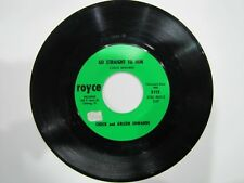 CHUCK & ARLEEN EDWARDS Go Straight To Him / Good Luck To Us ROYCE 5115 45 rpm