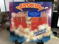 Krokus - Change Of Address - 1986 Arista Vinyl LP Record Album VG/VG+