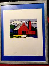 Roy Lichtenstein 1981 Original Lithograph Hand Signed By Artist;  COA, New Frame