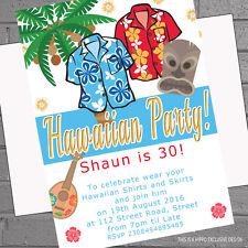 Personalised Hawaiian Luau Tropical Party Invitations Birthday Garden Party HP3