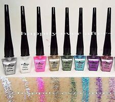 Italia Glitter Eyeliner Set - Assorted 8 Colors *Glitter Liquid Eyeliners*