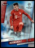 2019-20 Topps Finest UEFA Base Blue #74 Lucas Hernandez /150 - FC Bayern Munchen