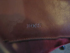 A VINTAGE BROWN BOSS PURSE AND CREDIT CARD HOLDER WALLET (SEE DESCRIPTION )