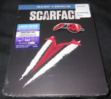 New! Scarface Blu-Ray + Digital HD + Steelbook - De Palma Al Pacino Pfeiffer