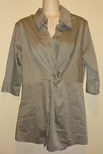 Maternal America Gray Twisted Front Tunic Top Shirt Blouse Size MEDIUM