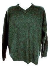 Woolrich Men's Crewneck Sweater XL Green 100% Wool Long Sleeve