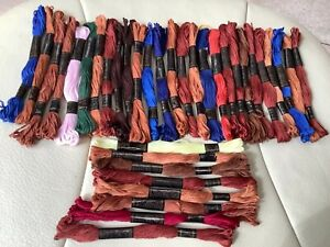 Job lot 35 embroidery thread Left over bundle mixed