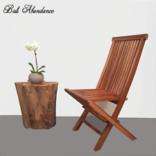 Balinese Natural Teak Foldable Dining Chair