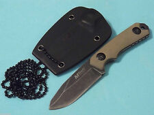 """MTech MT2030 Mini Neck Knife Stonewashed fixed blade 4 3/4"""" overall MT-20-30 NEW"""