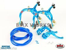 Dia-Compe MX1000 - MX121 Bright Blue Brake Set - Old Vintage School BMX
