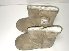 Armani Baby Girl New SUEDE BOOTIES FUR SHOES 19 Eur / 3 US RTL $125 SS501 O209