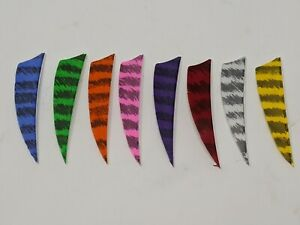 """Archery Past 3"""" Shield Barred Feathers - 12 Pack, RW or LW"""