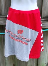 Wisconsin Badgers Chevron Game Day A line Skirt Upcycled T-Shirts XS
