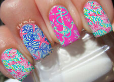Nautical Anchor A1016 Nail Art Stickers Transfers Decals Set of 22