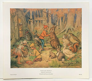 Woodland Hospital water colour print by Margaret W. Tarrant reproduction print