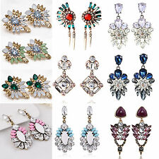Best Luxury Women Crystal Rhinestone Big Dangle Drop Earrings Ear Stud Jewelry