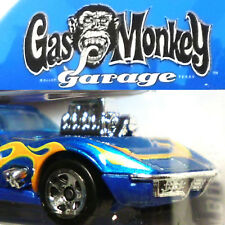 Hot Wheels azul'68 Corvette gas monkey garage coupé c3 Stingray Top TV-car (h263