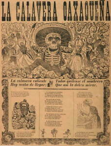 Jose Guadalupe Posada The Oaxaca Skull Giclee Paper Print Poster Reproduction