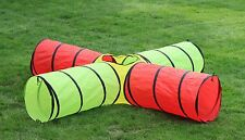 Kids 4-way Play Tunnel. 8-ft Pop up T unnel Toy, w/ stow&go Bag. FREE EXP SHIP!!