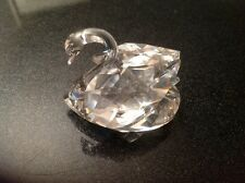 Beautiful Retired Swarovski Crystal Swan 6.5cm Long (Block Logo).