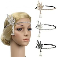 1920s Flapper Great Gatsby Headband Pearl Charleston Party Bridal Headpiece Gift