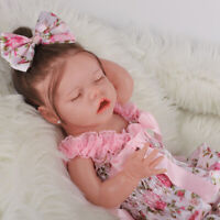 New Full Body Silicone Bebe Doll Reborn Baby Girl In The Giraffe Dress Set