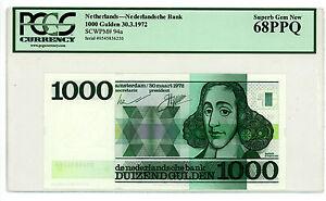 Netherlands … P-94 … 1000 Gulden … 1972 … *UNC*  PCGS 68. PPQ.