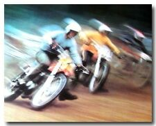 "VINTAGE MAICO HUSQVARNA MOTOCROSS MOTORCYCLE RACING ORIGINAL 33x22"" POSTER"