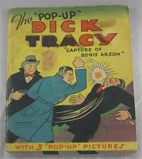 Blue Ribbon Pop Up Dick Tracy Capture Of Boris Arson 1935 Chester Gould