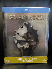 Gladiator Blu-Ray Steelbook Region Free Sealed Embossed Russell Crowe *Read*
