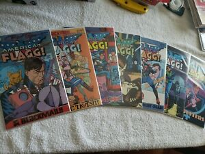 AMERICAN FLAGG COMICS LOT OF 7 (1983-1988 FIRST) #21-27  ALAN MOORE