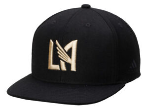 New Adidas LAFC Los Angeles Black Soccer Hat SnapBack Adjustable MLS Futbol