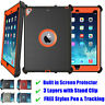 Shockproof Defender Military Case w/ Stand Clip & Screen Protector For iPad Case