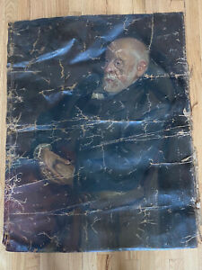 Antique Old Master's Style Portrait Painting (Unsigned) AS IS