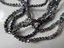 100 x Half-Plated Glass Beads - Faceted Round - 3mm - Mixed Colour