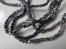 100 X half-plated Perlas De Vidrio-facetado redondo - 3 Mm-mezclado de color