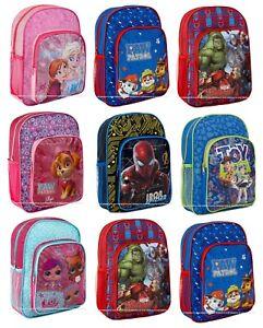 DELUXE Boys Girls Kids Backpack Junior Toddlers Character Rucksack School Bag UK
