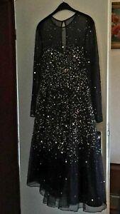 Turnierkleid standard, schwarz,  Abendkleid