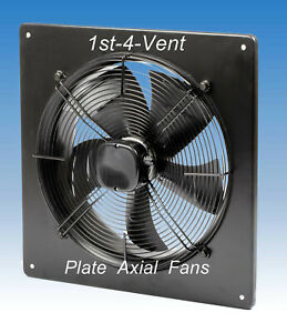 315mm PLATE AXIAL EXTRACTOR FAN, 1 PHASE, 4 Pole, Commercial Kitchen, Livestock