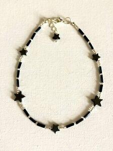 Handcrafted Hematite Star Gemstone Anklet Ankle Chain Ankle Bracelet