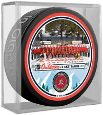 Vegas Golden Knights Lake Tahoe NHL Outdoors Team Photo Puck (in Display Cube)