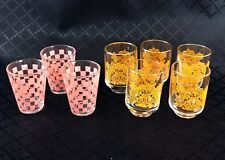 Vintage Shot Glasses Mid Century Modern Retro Mixed Lot 60s 70s