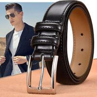 Men's Casual Leather Belt Pin Classic Buckle Waist Belt Waistband Belts Strap