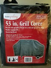"53"" Grill Cover Heavy Duty, Full Length Weather Resistant Pvc Home Grilling"