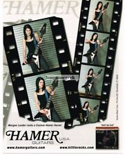 2005 HAMER Custom Vector Electric Guitar MORGAN LANDER of Kittie Vtg Print Ad