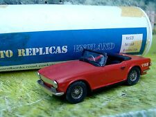 1/43 AUTO REPLICAS(England) Triumph tr6   Handmade White Metal Model Car Kit