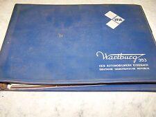 DDR Wartburg 353 Ersatzteilkatalog Deutsch / English 1975