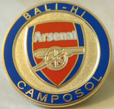ARSENAL Rare BALI - HI CAMPOSOL Badge Brooch pin in gilt 25mm x 25mm