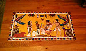 Egyptian royalty KIng Tut & his  wife Acrylic Painting Egypt Suzanne Newkirk old