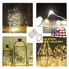 30LED String Fairy Lights 10ft 3M Warm White Mini Battery Powered Xmas Party US